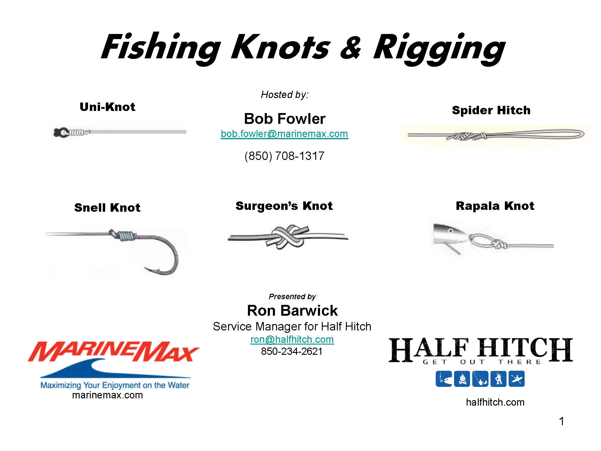 Fishing Knots & Rigging - HalfHitch.com | HalfHitch.com